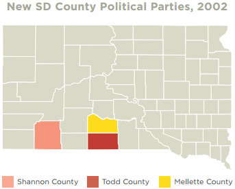 SD county political parties
